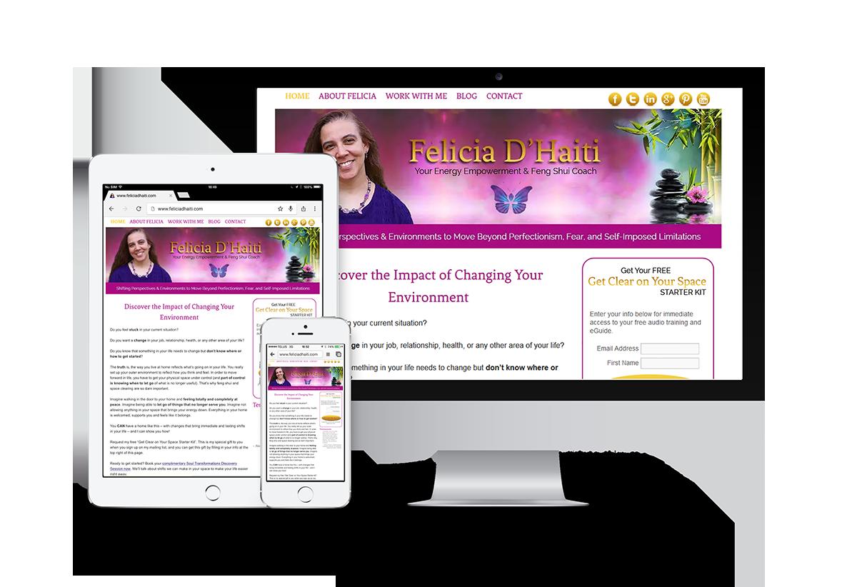 Felicia D'Haiti website project