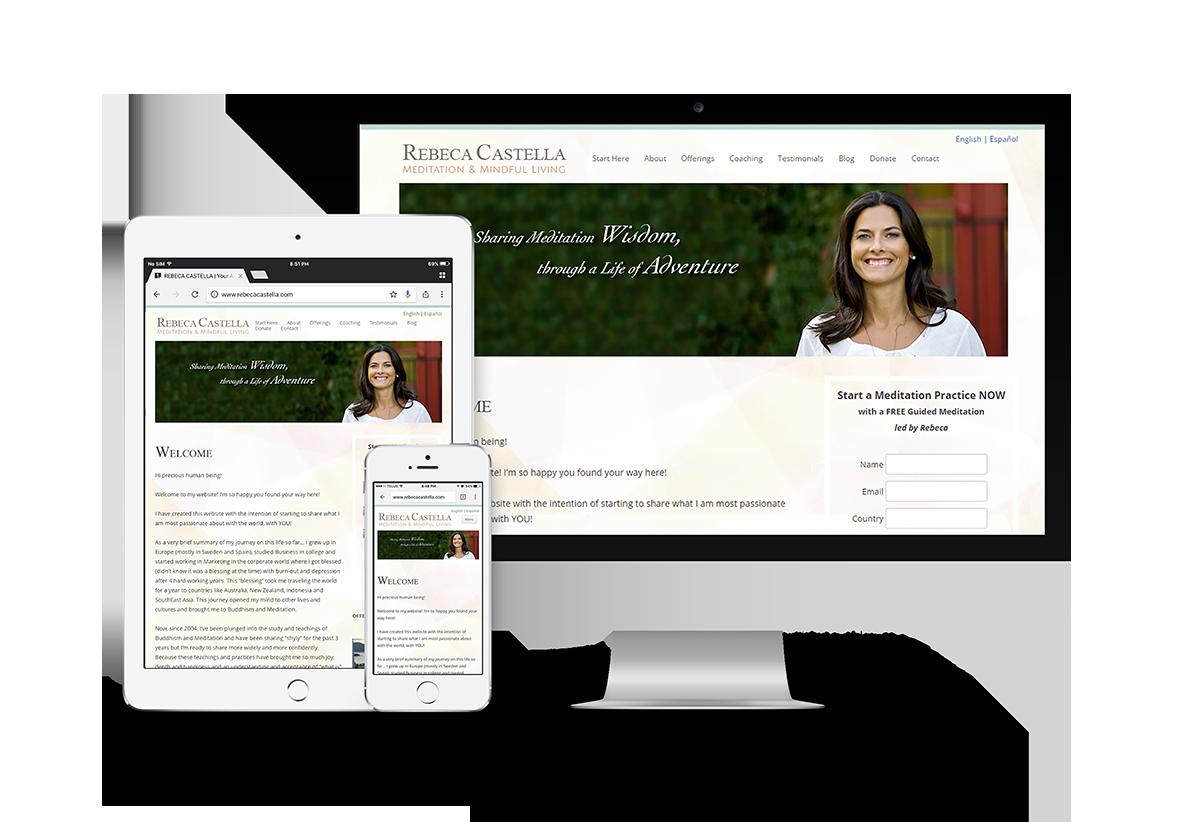 Rebeca Castella website project