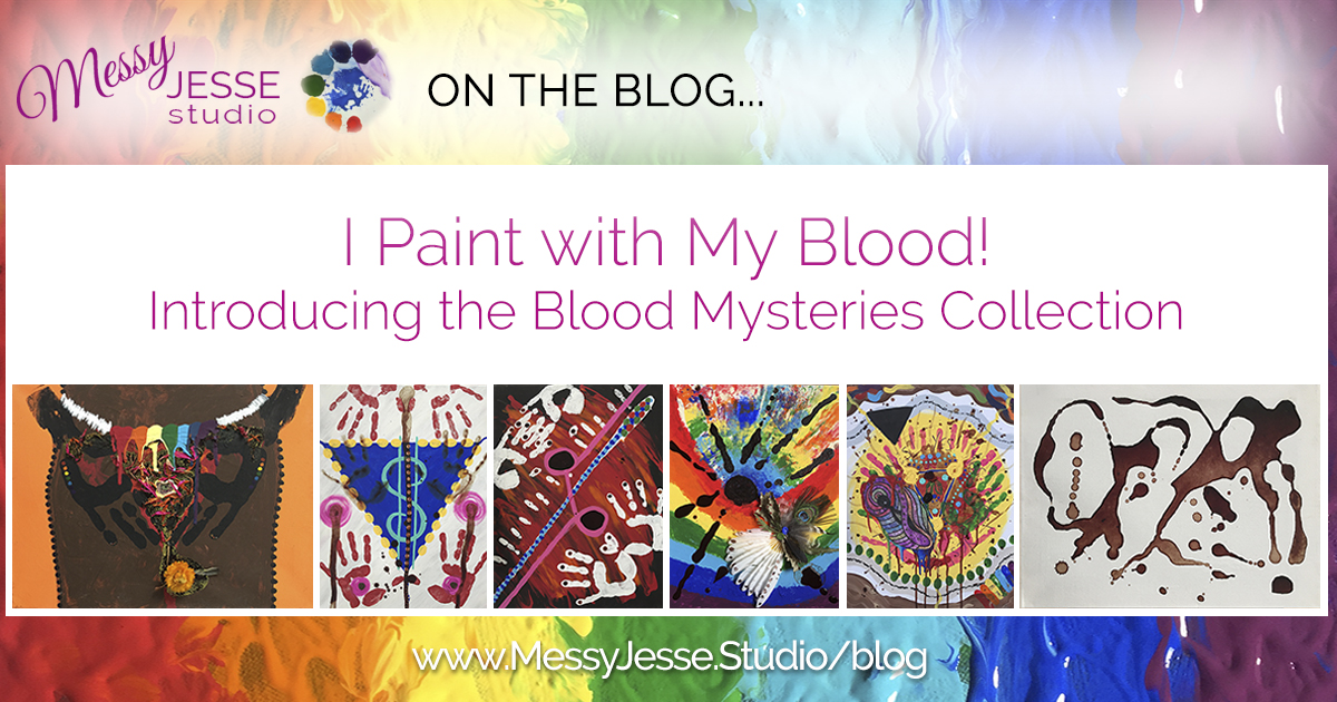 I Paint with My Blood! Introducing the Blood Mysteries Collection